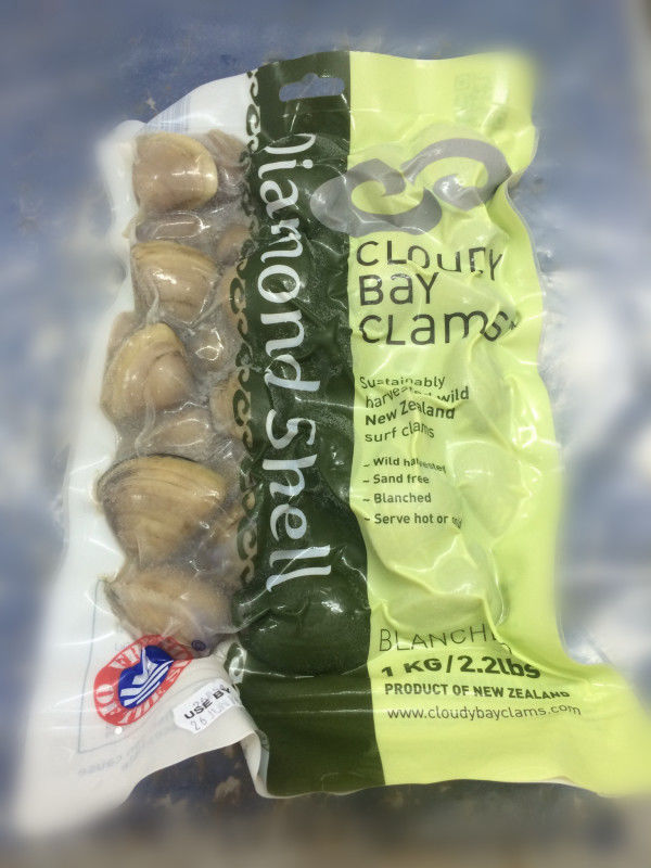 Diamond clams (Blanched)